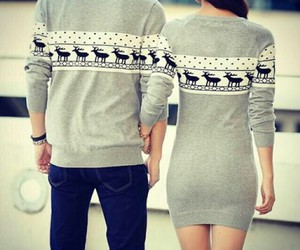 couple, christmas, and sweater image