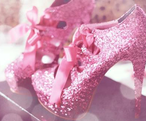 pink, shoes, and glitter image