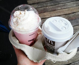 McDonalds, coffee, and drinks image