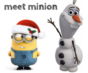 minions, olaf, and frozen image
