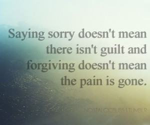 pain, sorry, and guilt image