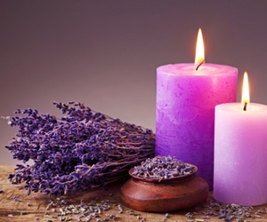 candle, light, and heather image