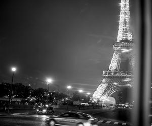 night, paris, and places image