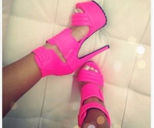 chic, heels, and pink pumps image