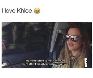 funny, lol, and khloe image