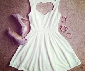 dress, fashion, and white dress image