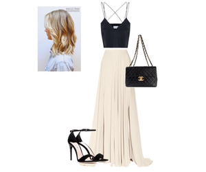 blonde, channel, and dress image