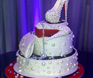 cake, louboutin, and red image