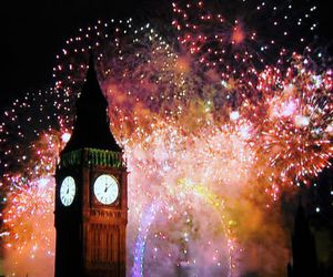 firework, newyears, and london image