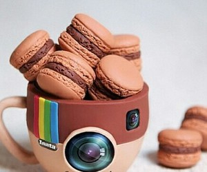instagram, chocolate, and macaroons image