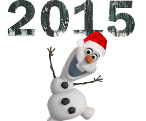frozen, happy new year, and winter image