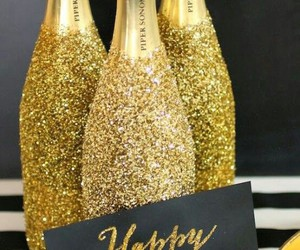champagne and happy new year image