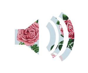 music, flowers, and rose image