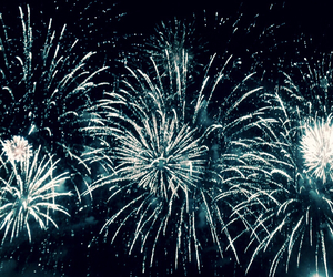 fireworks, party, and love image