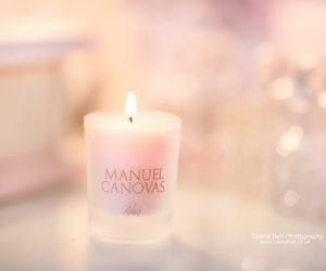 candle, pink, and fire image