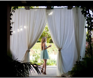 curtains and girl image