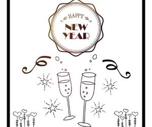 happiness, happy new year, and have fun image