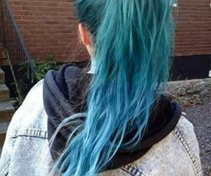 blue hair, grunge, and style image