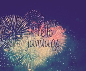january, hello, and fireworks image