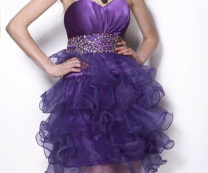 fashion, glamour, and homecoming dress image