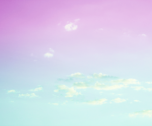 blue, clouds, and pastel image