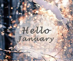 january, snow, and hello image