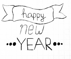 new year, bye 2014, and new years eve image
