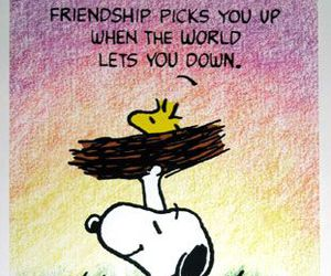 friendship, snoopy, and quotes image