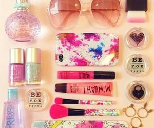 perfume, nail polish, and summer image