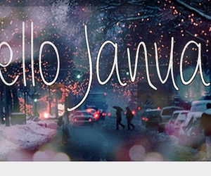 january, hello, and winter image