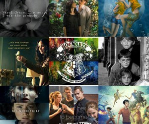 harry potter, hunger games, and tfios image