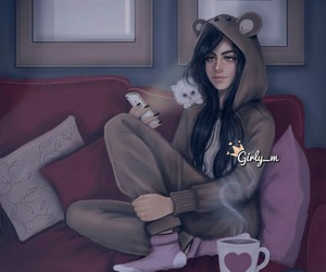 girly_m, art, and cat image