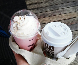 McDonalds, drinks, and frappe image