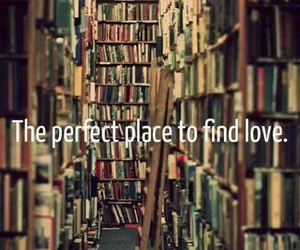 books, library, and find love image