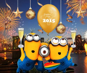 minions, 2015, and happy image