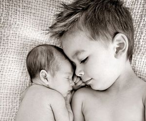baby, brothers, and boy image