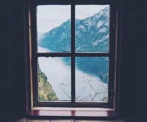 window, nature, and vintage image