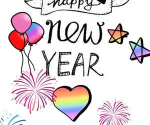 happy new year, heart, and hope image