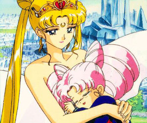 sailor moon, chibiusa, and serenity image