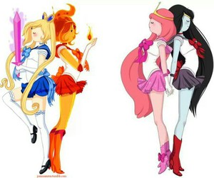 adventure time, sailor moon, and girls image
