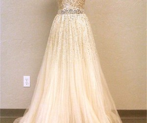 dress, sequins, and wedding image
