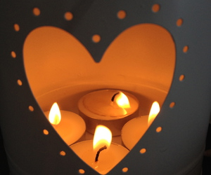candle, tea light, and love image