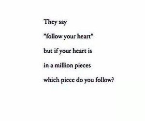heart, questions, and million pieces image