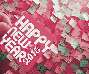 2015, postit, and newyear image
