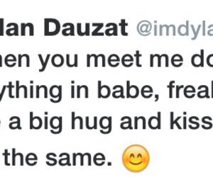freak out, hug, and kiss image