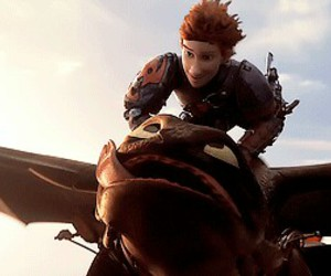 toothless, hiccup, and gif image