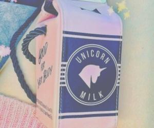 unicorn, pink, and milk image