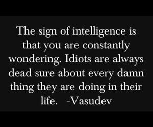 quotes, idiot, and intelligence image