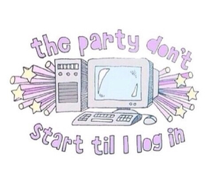 computer, party, and tumblr image