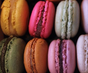 macaroons, sweet, and colorful image